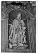 Giovanni Lazzoni (1618-ca 1687): Statue av den salige Beatrix (II) i kirken Sant'Agostino i Modena i Italia